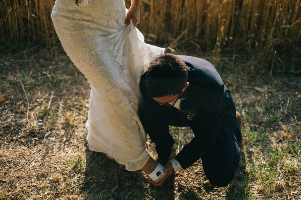 Fotografiando momentos de la boda