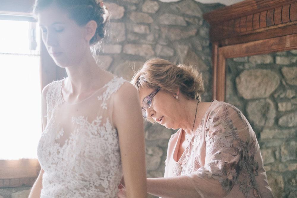 Preparativos de boda la novia