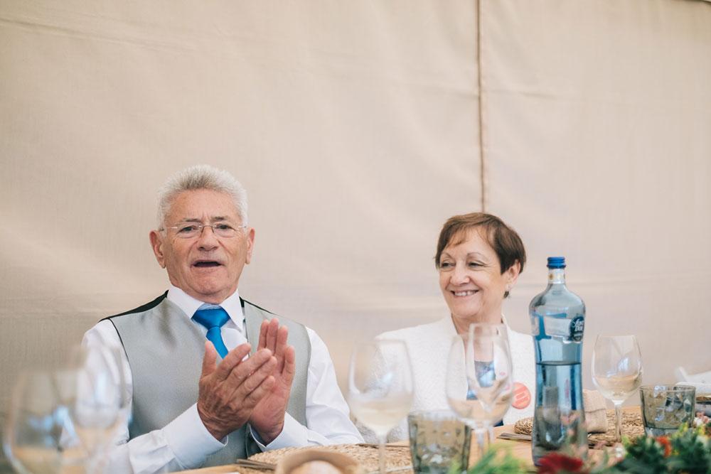 Los padres el dia de la boda