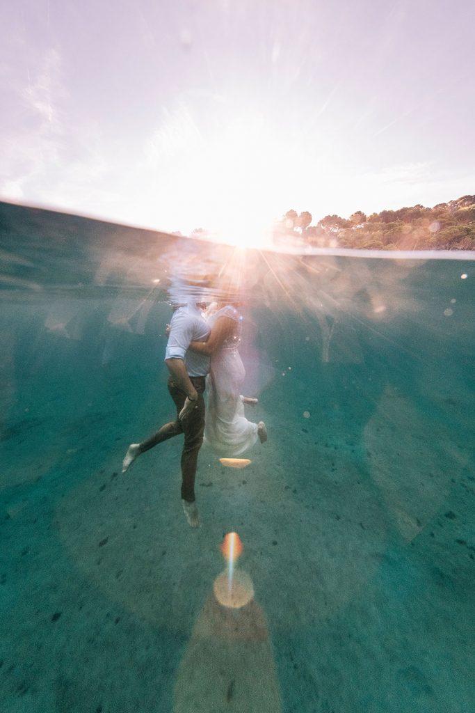 Postboda bajo el agua Cala aiguablava
